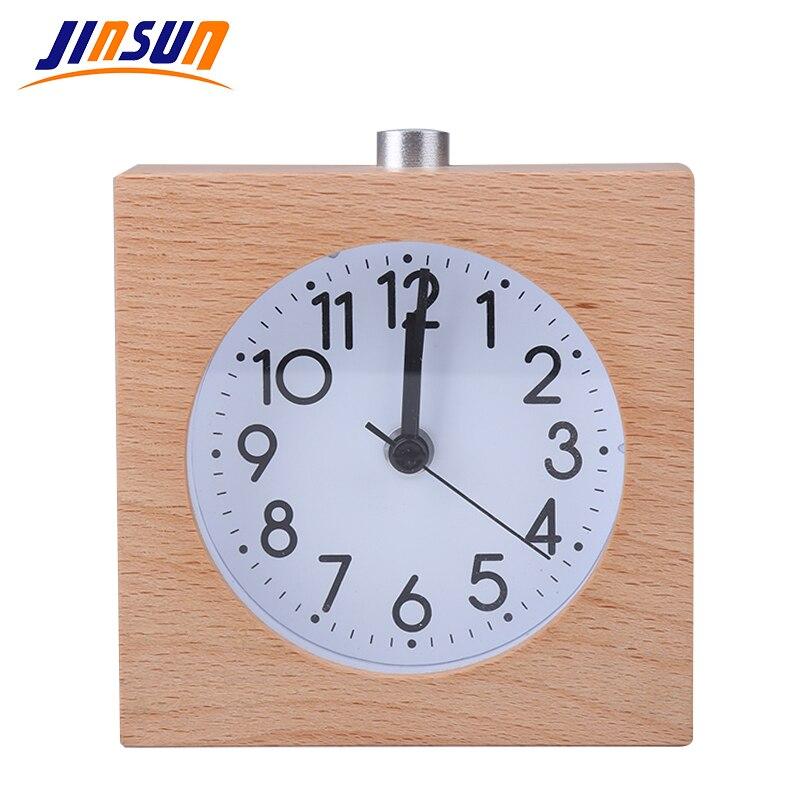 JINSUN Square Alarm Clock Балалар үшін Ағаш Snooze - Үйдің декоры - фото 2