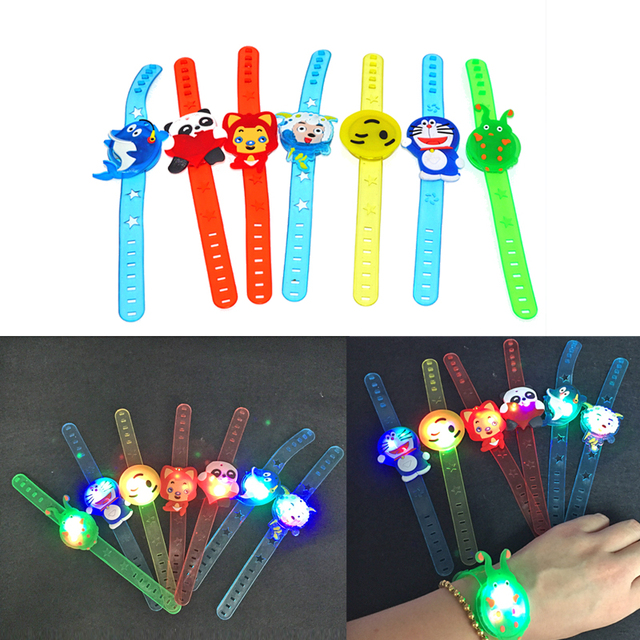 Hello Kitty Minions Glow Led Bracelet Birthday Party Decoration Kids Baby  Shower Party Favors Girl Boy Gift Supply Event Party