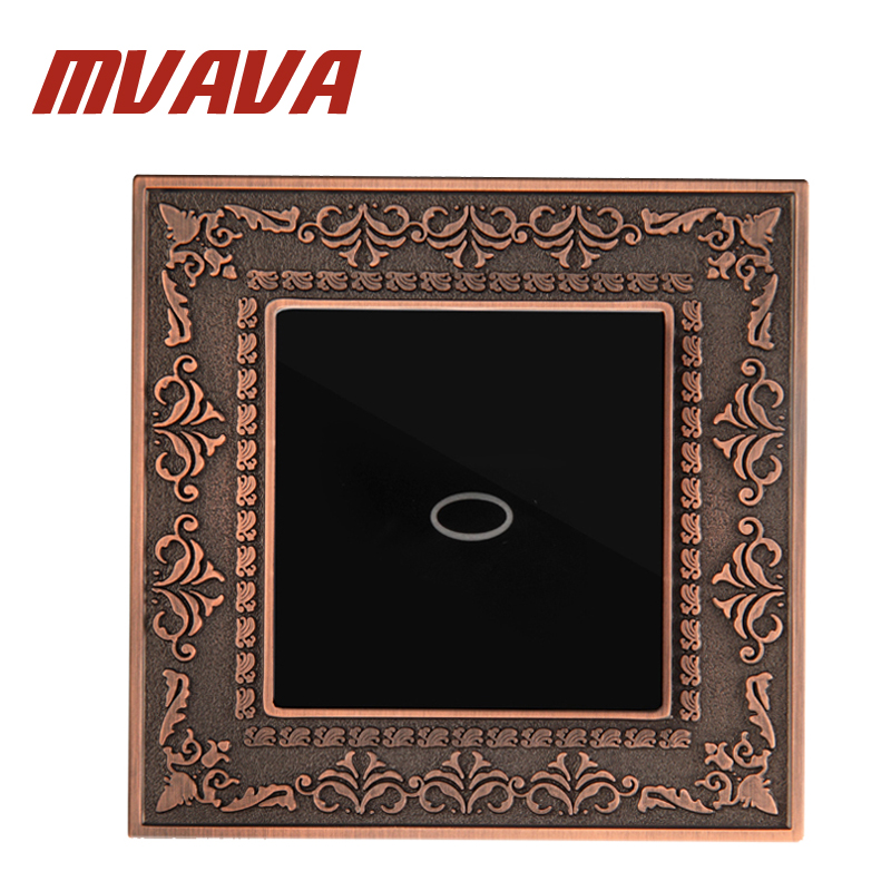 MVAVA UK Standard Wireless Switch 1 Gang 1 Way With Remote Function Single Zinc Alloy Panel For 1 Gang Wall Touch Switch smart home uk standard crystal glass panel wireless remote control 1 gang 1 way wall touch switch screen light switch ac 220v