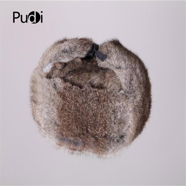 HR007 New Men's/Women's 100% Real Rabbit Fur Warm Hat/Russian Bombers Guard Cheek Hat cap
