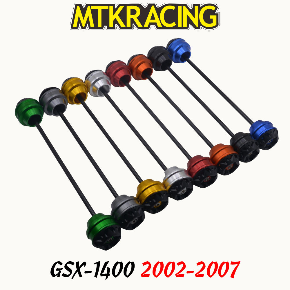 MTKRACING For SUZUKI GSX 1400 2002 2007 CNC Motorcycle rear wheel Axle Slider shock absorber Falling Protection
