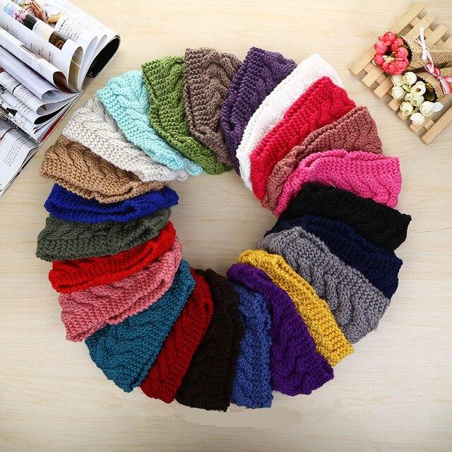 Moda crochet patrón de trigo mujeres turbante Bandas para la cabeza ...