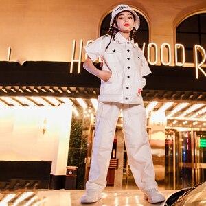 Image 3 - היפ הופ ריקוד תלבושות קצר שרוולים למעלה מכנסיים קיץ גאות רחוב שלב בגדי ילד ריקוד ג אז תלבושות ביצועים ללבוש DQS146