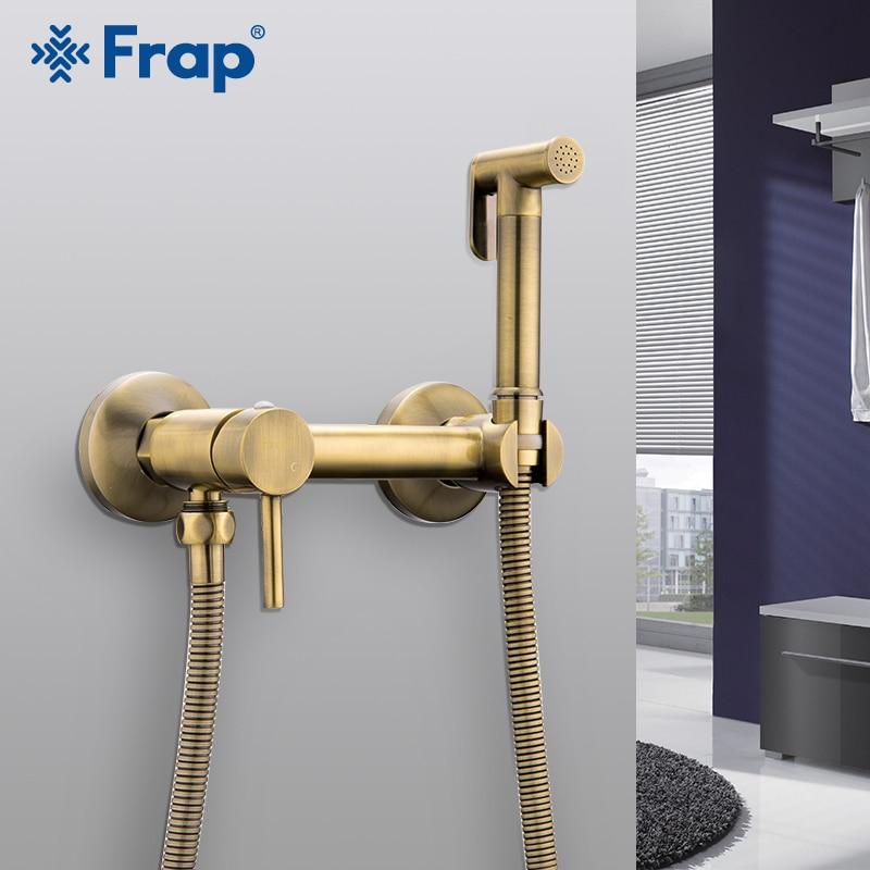 FARP Bidets douche bronze tête de lavage hygiénique pulvérisateur de douche aérographe robinet mélangeur froid et chaud kit de toilette spray bidet spray
