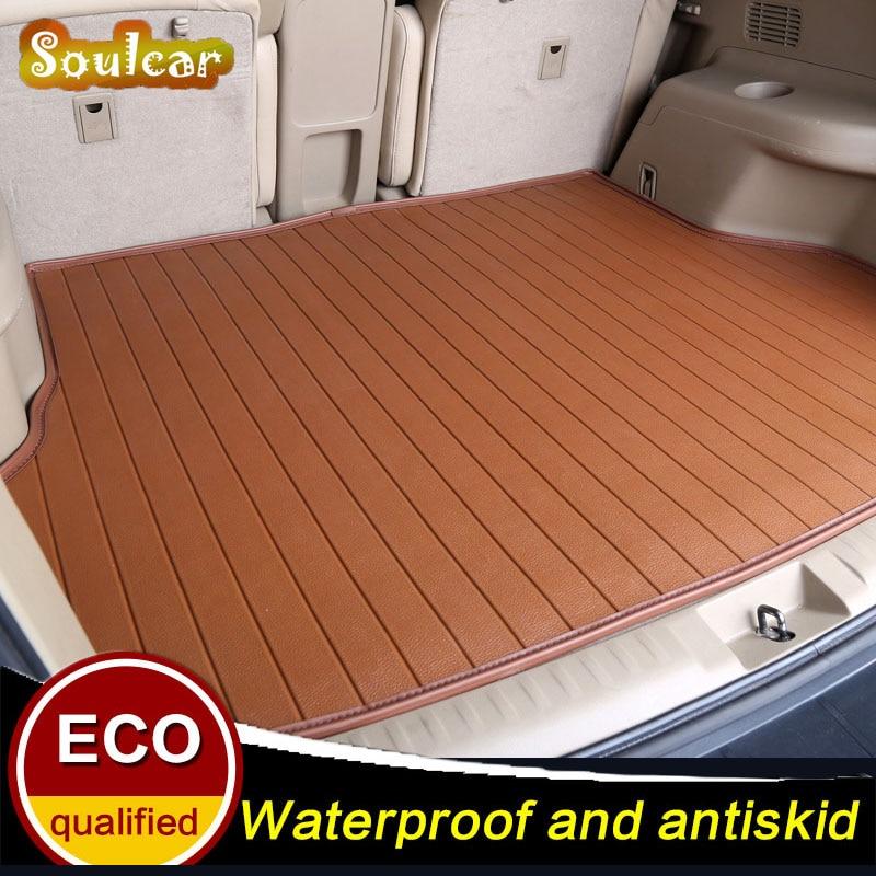 Custom car trunk mats for Mitsubishi OUTLANDER EX Zinger Grandis pajero sport Eclipse DX7 BOOT LINER REAR TRUNK CARGO TRAY MATS