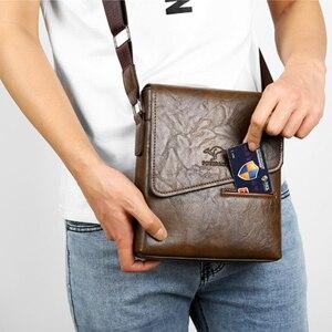 Image 5 - 브랜드 클래식 남성 가방 빈티지 스타일 캐주얼 남성 가죽 메신저 가방 남성 크로스 바디 숄더 비즈니스 가방 남성용