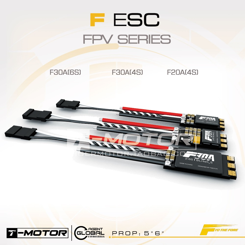 T-MOTOR FPV ESC F30A 6S F30A 4S F20A 4S Dshot Multishot BEC Brushless Motor Electronic Speed Controller for Multicopter great hobbyking extreme short course short course brushless motor 120a 2s 4s esc speed controller for 1 8 1 10 suv car