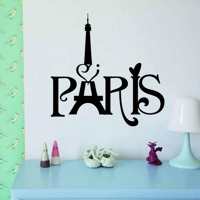 Letter Paris Wall Sticker Wall Decals Vintage Home Decor Pegatinas De Pared  Kitchen Living Room Wallpaper