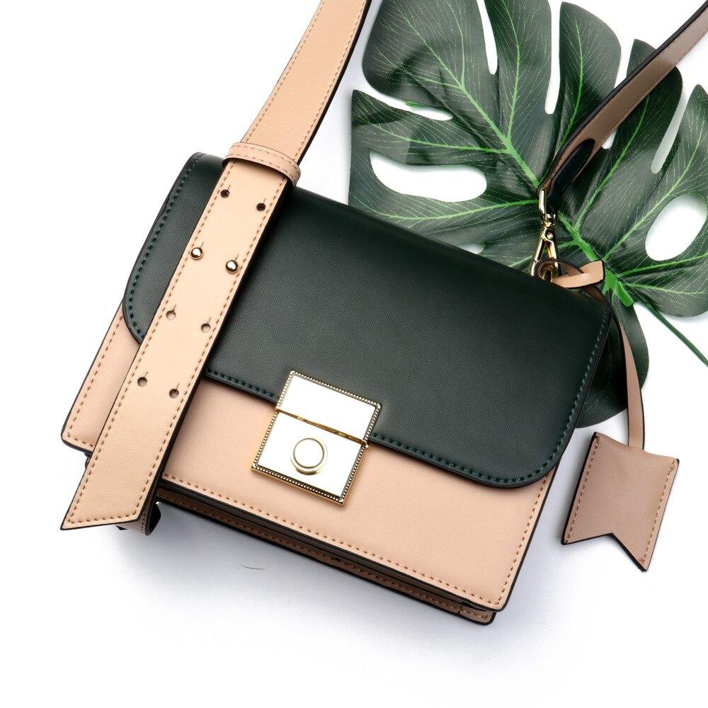 купить THREEPEAS Genuine Leather Women Shoulder Bags Messenger Bags Fashion Small Flap Bags Lady Crossbody Bags Handbags по цене 3010.19 рублей