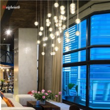 LED Crystal Glass Ball Pendant Meteor Rain Meteoric Shower Stair Bar Droplight Chandelier Lighting AC110-260V Hanging G4 LEDLamp