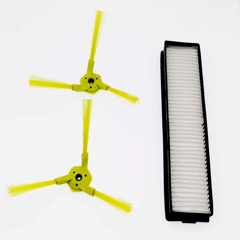 3pcs/lot Pair Sidebrush H11 HEPA Filter And For LG Hom Bot VR6270LVM VR65710 VR6260LVM VR Series Robot Cleaners
