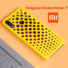 100% Chính Thức Ban Đầu Xiaomi redmi note 7 Trở Lại Trường Hợp thời trang hollow lỗ lỗ mát thiết kế redmi note 7 bìa frost matte vỏ