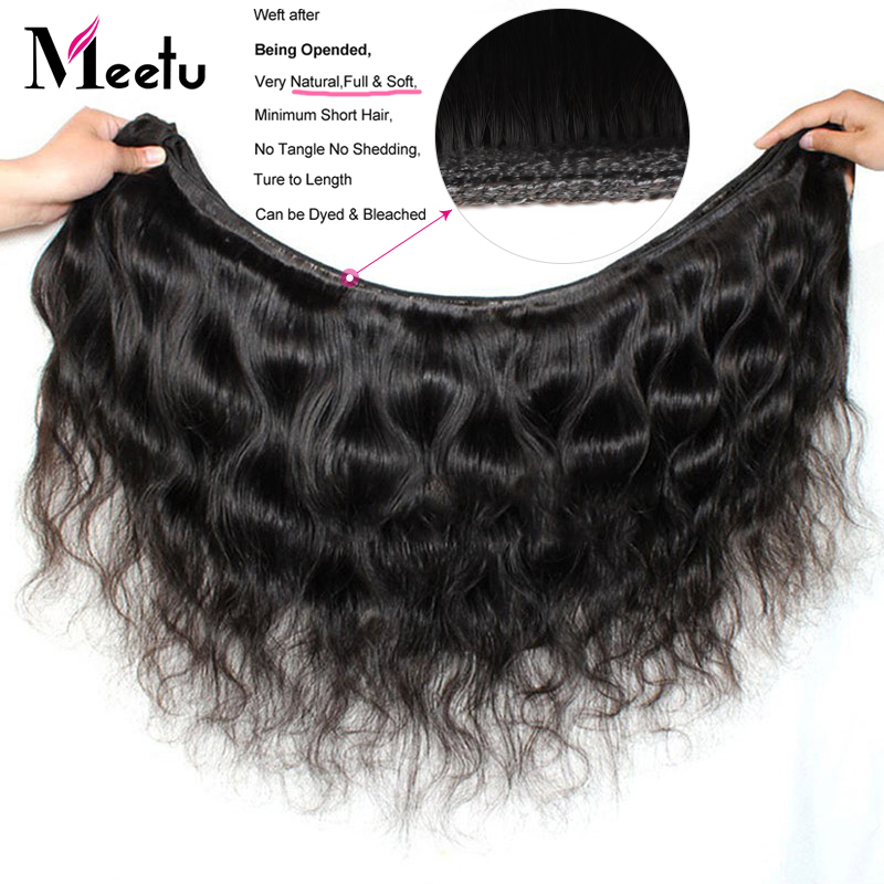 Meetu Mongolian Body Wave Bundles With Closure Free Part 3 Bundles With Closure Non Remy Human Hair Bundles With Closure 5x5inch