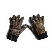 Bionic camouflage hunting gloves camouflage gloves outdoor slip gloves camouflage leaves