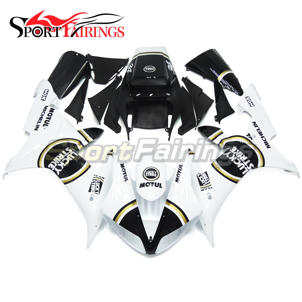 Lucky Strike White Injection ABS Fairings For Yamaha YZF 1000 R1 Year 2002 2003 02 03