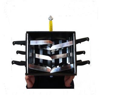 Plié Piercing-Tête Boîte Professionnel Magicien Gimmick, Étape tour de Magie, Accessoires, Mentalisme, Close Up, amusant, Magia Jouets Blague