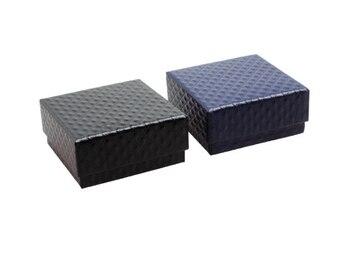 200PCS 5cm*5cm*3cm Square shape jewelry earrings rings gift boxes black square carton bow case