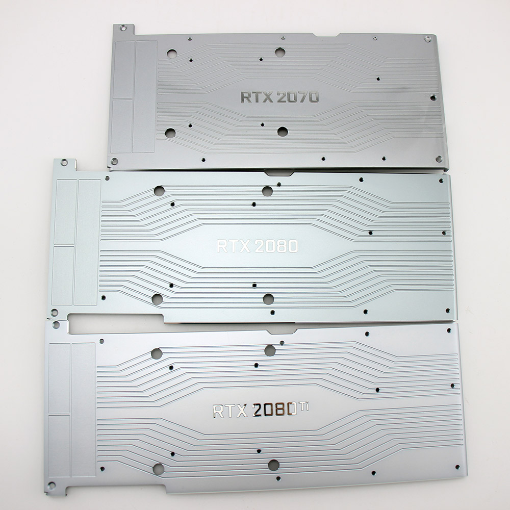US $15 0 |New Original for NVIDIA RTX 2080 Ti 2080 2070 Graphics card  backplane aluminum metal with RTX2070 RTX2080 RTX 2080Ti Backplane-in Fans  &