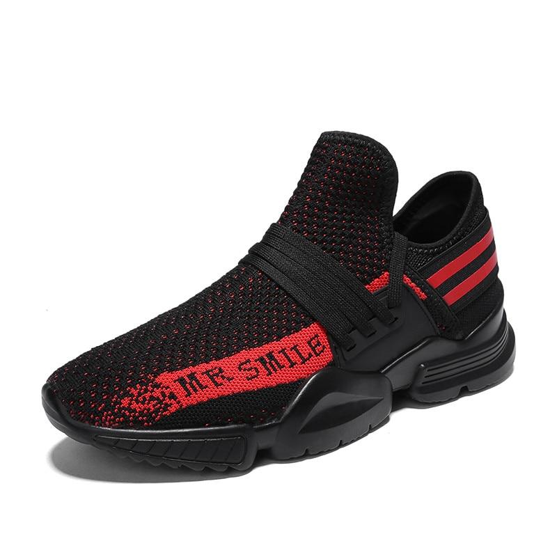 Nouvelle Tendance Sneakers pour Hommes Noir Sport Homme Chaussures Respirant Air Mesh Chaussures de Course Adulte Léger Buty Sportowe Homme