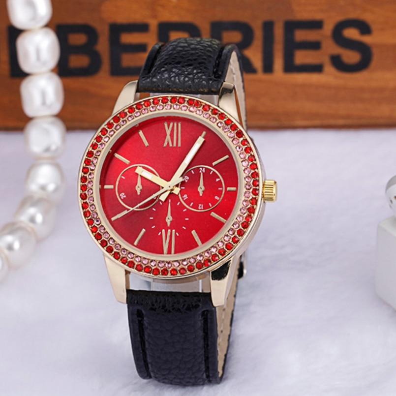 Excellent Quality watches Women rhinestone quartz watch reloj mujer Brand Luxury Crystal watch Women Dress Quartz Wristwatches