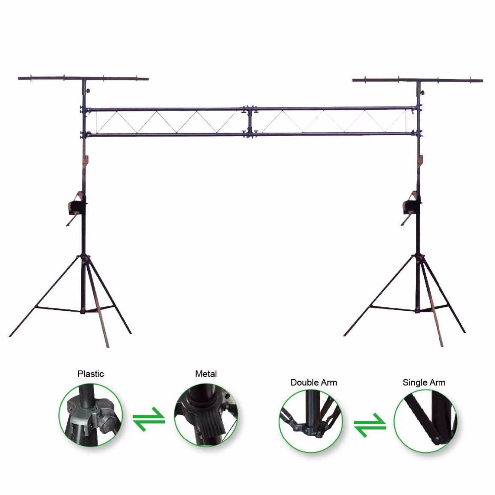 KUILONG mobile truss system /Truss L002 Lighting Stand with duty crank stand 290mm aluminum stage truss structure event lighting spigot truss with black coated