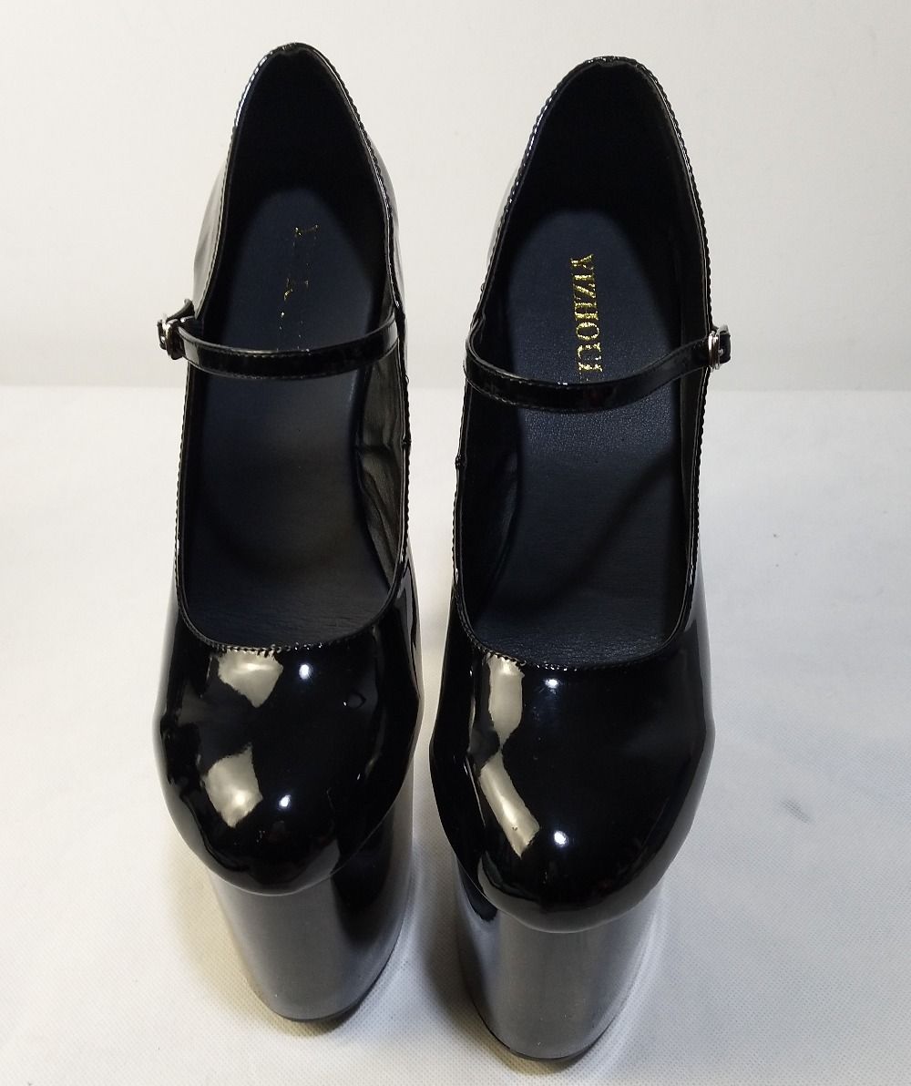 Femmes Pouces Haute Sexy Cm Danse Talons Noir formes Chaussures rouge Talon Bas Plates Mariage Pompes 20 De rrvfF48W