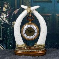 Meijswxj N Desktop Clock Digital Retro luxury Bracket Clock Saat Reloj Table Clocks Masa saati Relogio de mesa Mute Home Decor