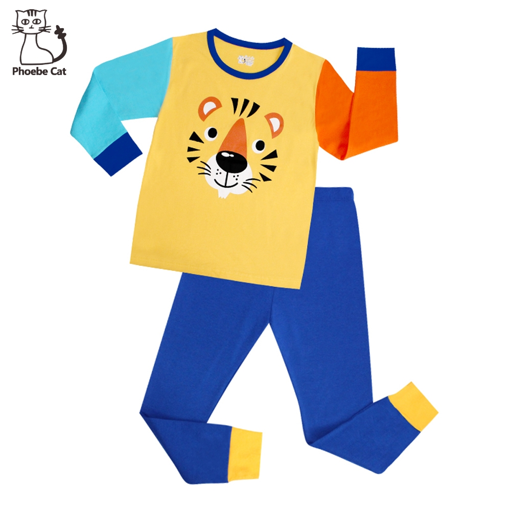 baa2145f5a3e Phoebe Cat Long Boys Pajamas Children s Sleepwear Pijama Infantil ...