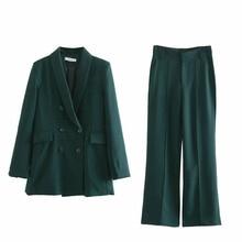 2-piece Set Suit Women Solid Casual Short Shirt + Pants Loose Wide Leg Spring Female Fashion Slim
