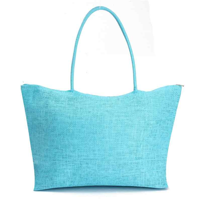 12a6994ba6 ... Hot New Design Straw Popular Summer Style Weave Woven Shoulder Tote  Shopping Beach Bag Purse Handbag ...