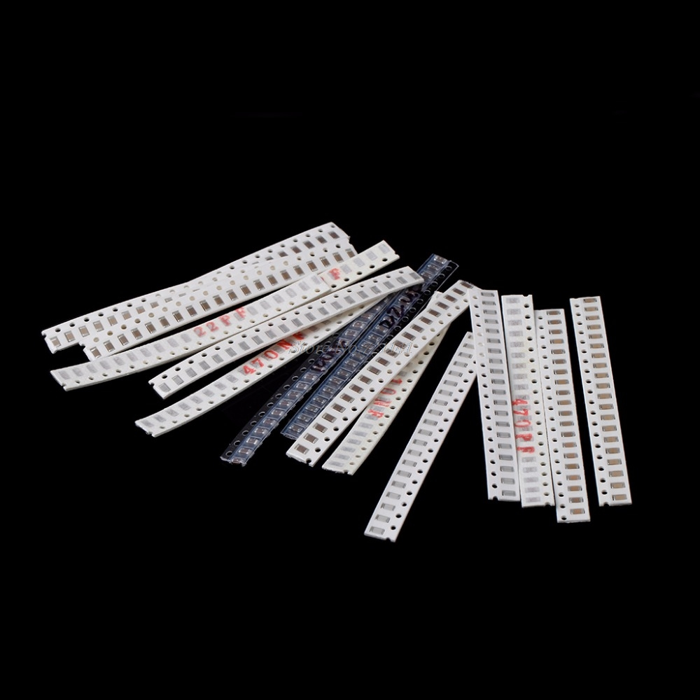 320 Pcs 16 Values 10PF-22UF 1206 SMD Surface Mount Capacitor Assorted Kit Capacitors Dropship image
