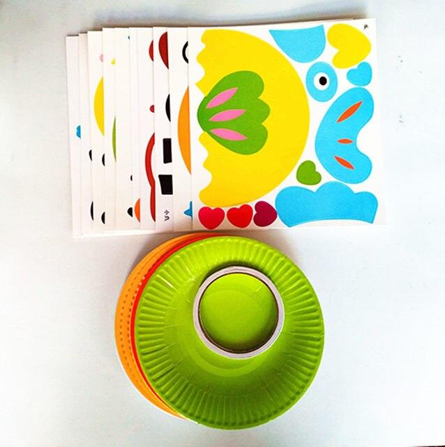 IMG_20171220_155654  sc 1 st  Aliexpress & Online Shop 10pcs/set DIY Paper Plate Art Craft Puzzle Stickers ...