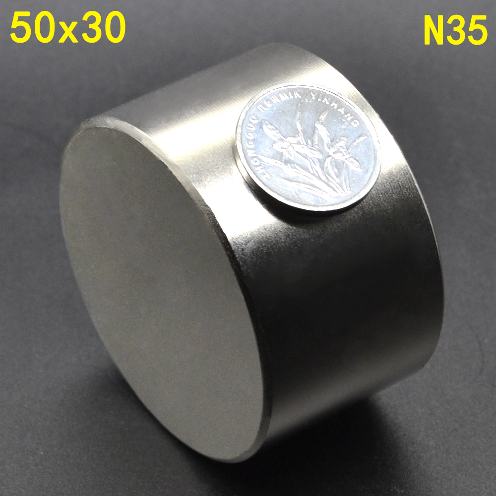 Image 4 - 1Pcs N52 50 x 30 Permanent Round Magnet 50*30 50mm x 30mm Big Super Strong Powerful Neodymium Magnet-in Magnetic Materials from Home Improvement