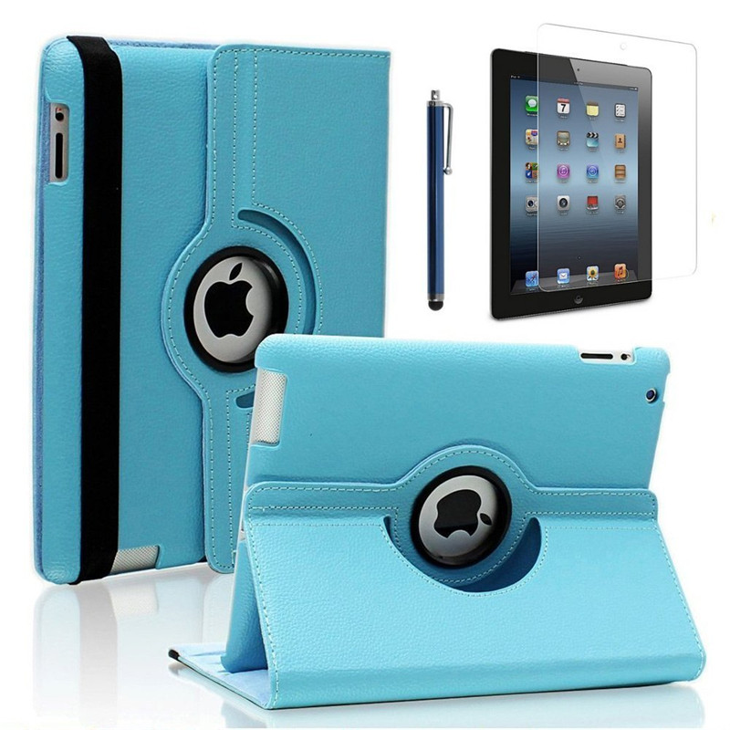 360 Degree Rotating Stand Smart Case Cover for IPad with Retina Display (iPad 4th Generation), for The New IPad 3 & IPad 2 ems free shipping 3d photo shop display rotating turntable 360 degree mannequin photography stand