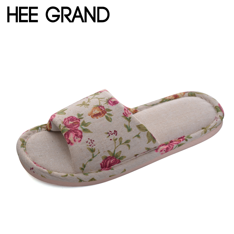 HEE GRAND Linen Sewing Slippers Fashion Flats Shoes Woman Slip On Unisex Winter Warm Men Women Shoes 6 Colors Size 36-45 XWT964 new 2017 hats for women mix color cotton unisex men winter women fashion hip hop knitted warm hat female beanies cap6a03