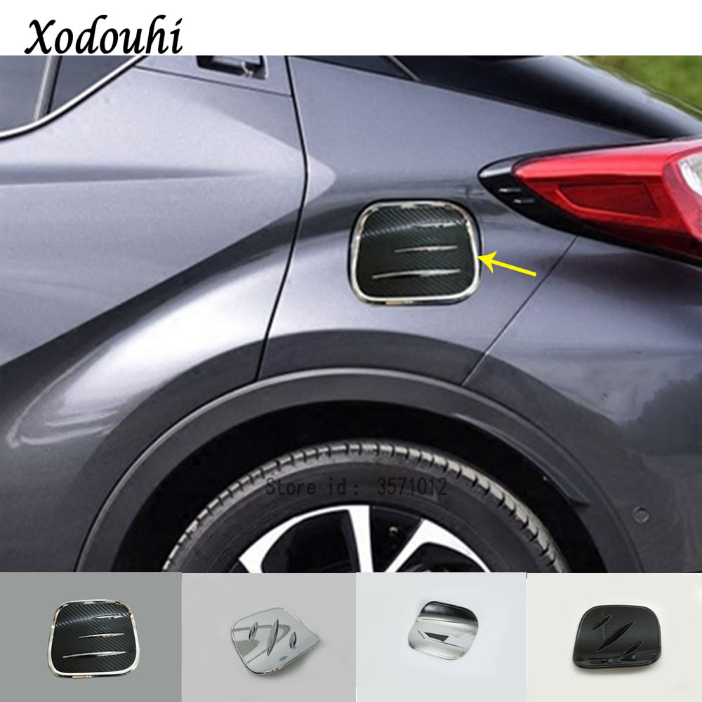 Carbon fiber color Car Fuel Oil Tank Gas Cap Cover For Toyota C-HR CHR 2016-2018