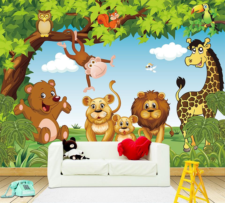 HTB1Ez YQpXXXXXpXVXXq6xXFXXX9 - Cartoon Animation child room wall mural for kids room boy/girl bedroom wallpapers 3D mural wallpaper custom any size