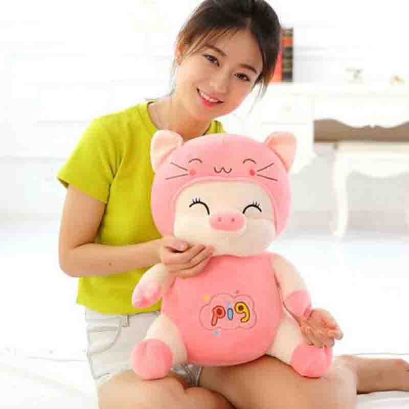 new lovely Plush pig Toy Stuffed PP cotton pink red pig for childrens Birthday Gift