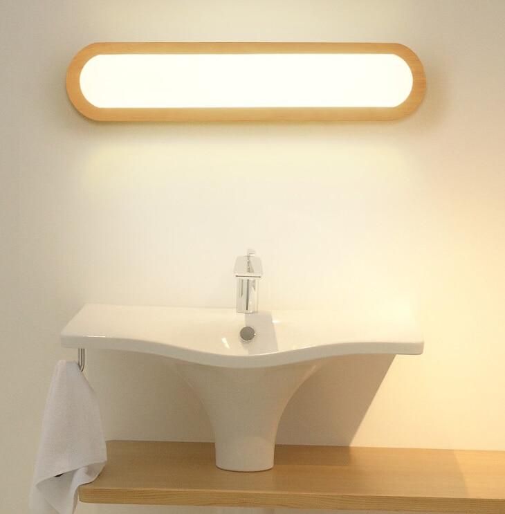 Creative Nordique Chambre Bois Applique Murale 12 W Ac110 240v Foyer Etude Fond Lampe Salle De Bain Led Miroir Lumiere