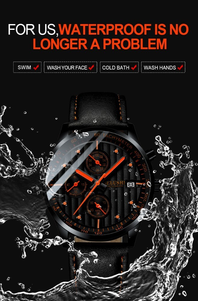 HTB1Ez jaLfsK1RjSszbq6AqBXXaB Luxury Men's Quartz Watch Sport Casual Wristwatch Men Military Watches Clock Man Leather Wrist Watch Date Waterproof 30M Relogio