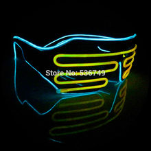 ICE Blue+yellow el glasses El Wire Fashion Neon LED Light Up