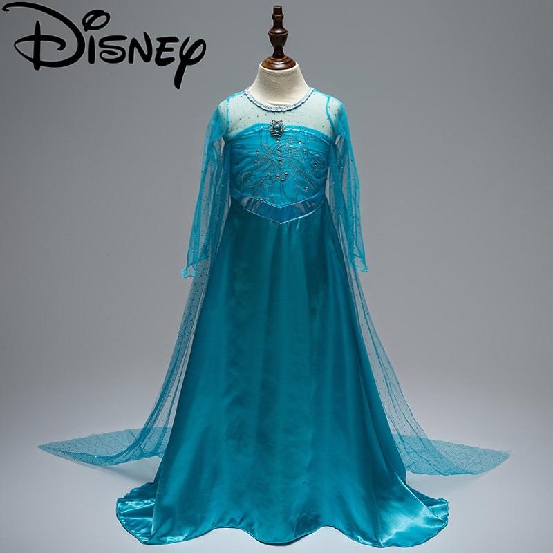 bf000a3fe0 Disney Frozen dress FEVER girl Costumes for kids cosplay princess anna elsa  fantasia vestido infantils carnival