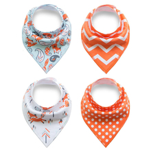 4Pcs Cartoon Newborn Baby Burp Bandana Bibs Cotton Soft Kids Toddler Triangle Scarf Bib Cool Accessories Infant Saliva Towel