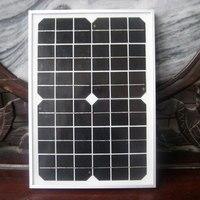 אספקת חשמל חיצונית קמפינג תאורת 10 ואט פנל סולארי מודול טעינת 12 V סוללה, פנל monocrystalline 10 w CE 200 W/הרבה