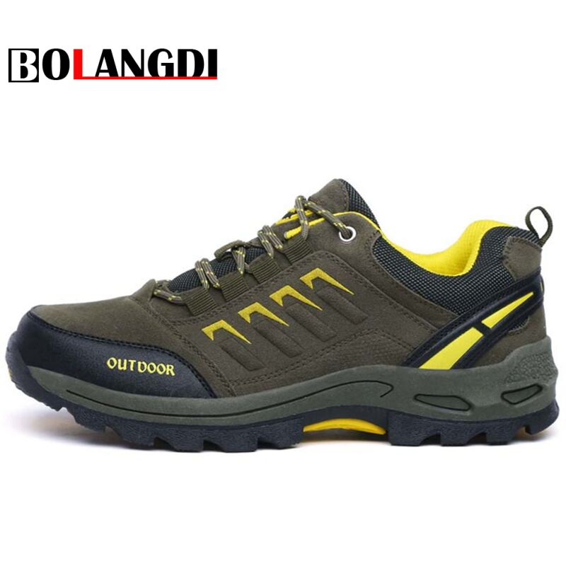 Bolangdi New Women Mens Outdoor Adventure Hiking Shoes Anti-skid Trail Climbing Mountain Shoes Breathable Brand Sport Sneakers bolangdi 2017 new anti slip outdoor men hiking shoes high quality trekking camping shoes breathable lace up brand sport sneakers