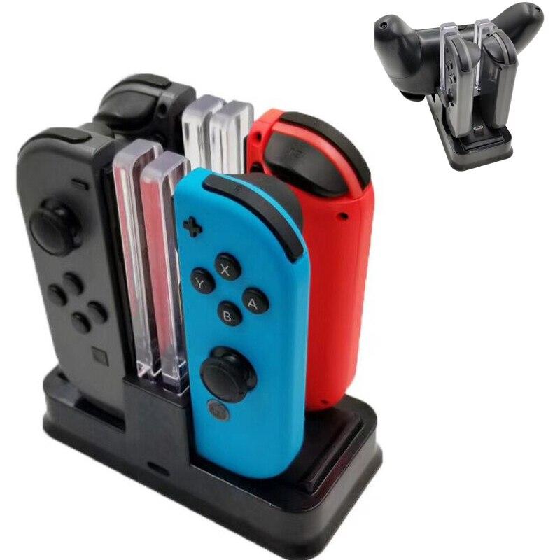Nintend Interruptor Controlador do Carregador da Estação De Carregamento Doca Para Nintendos Swicth Joycon Nintendoswitch NS Pro Controlador de Carga LED
