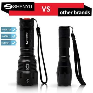 Image 2 - SHENYU lampe de poche étanche Scorpion T6 avec zoom lampe LED fluorescente et 26650 nm