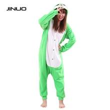 Kigurums Funny pijama Women Adults Animal Green Buddy lapin Lovely Rabbit Pajamas Onesie Pyjamas animal onesies for teenagers
