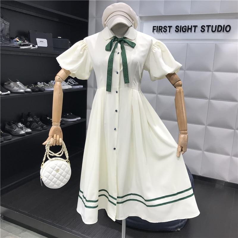 2019 Fashion Spring Summer Clothes Dress Women Sweet Puff Sleeve Retro Party Dresses Vestidos Ladies Elegant Holiday Sexy Femme