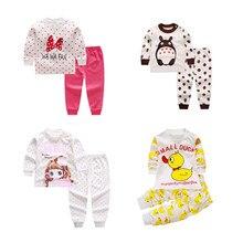 Комплект одежды для сна для детей 3-24 месяцев, детские пижамы, пижамы для малышей, пижамы с рисунками животных для мальчиков и девочек, хлопковая одежда для сна